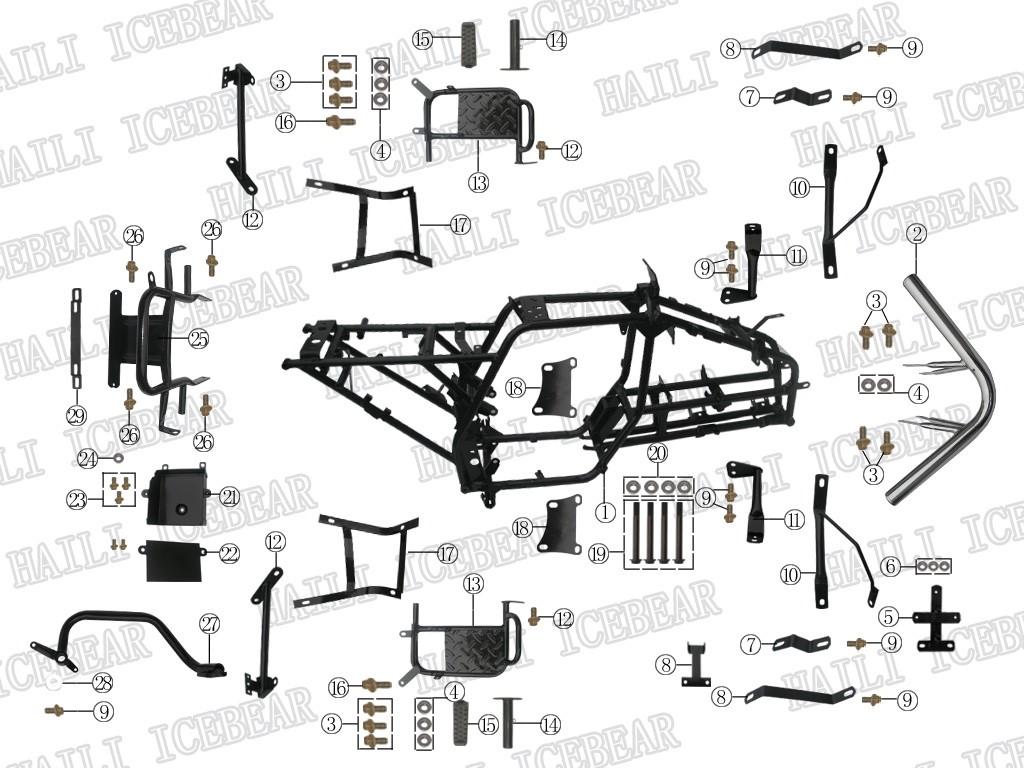 Haili SP307 Ersatzteile Rahmen