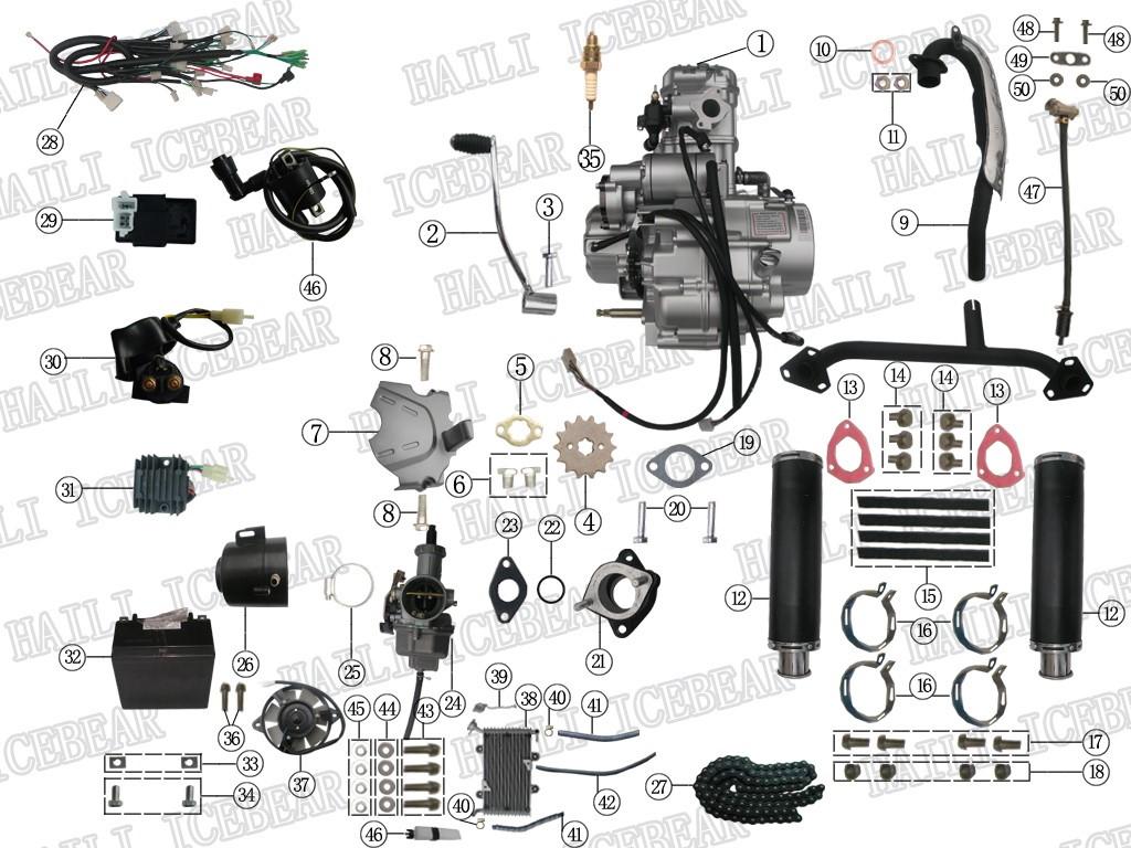 Haili SP307 Ersatzteile Motor
